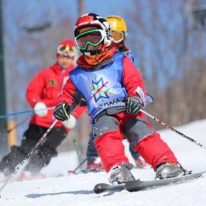 Kids ski lesson!