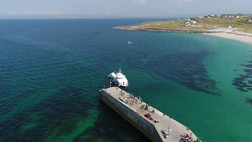 Star of Doolin, our flagship approaching the pier on Inis Oirr island - the closest of the 3 Aran Islands to Doolin and only a 15/20 minutes crossing