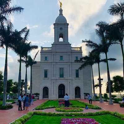 Barranquilla, Colombia Mormon Temple, grounds and garden.