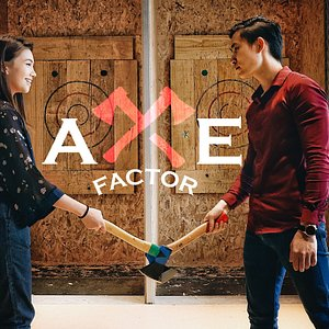 In Axe Factor, we do not fist bump. We touch axes for a good game played!