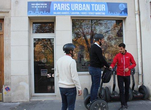 #ParisUrbanTour  Une séance test devant la boutique !