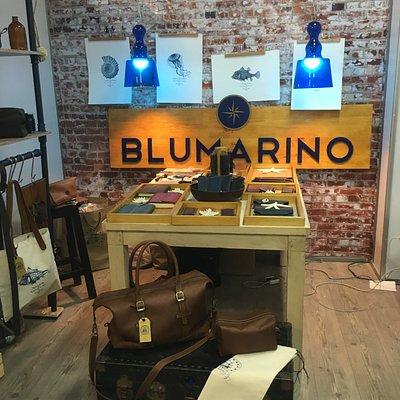 Blumarino, Tienda de Marroquineria en Bogota. Hecho  a Mano. lo encontraran en la candelaria.