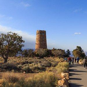 Watchtower am Desert View Viewpoint am Grand Canyon ist in 5-10 Minuten fußläufig zu erreichen.