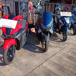 Selection of the scooters rentals