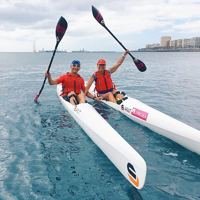 Didier and Claudie (french couple) were here enjoying a lot the surfski paddling