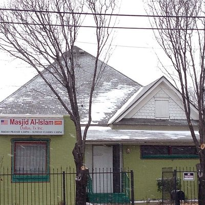 The Masjid front from Harwood St.