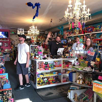 Inside the Fifty-Two 80's store with owner's Tony and Dede in Denver, Colorado.