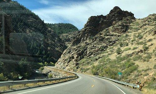 Scenic, winding road to Black Hawk along Hwy 6/119
