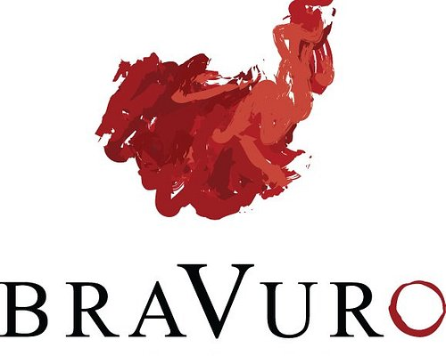 We love our logo... an abstract painting of a matador's cape in motion.