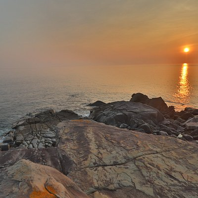 板敷鼻からの夕日