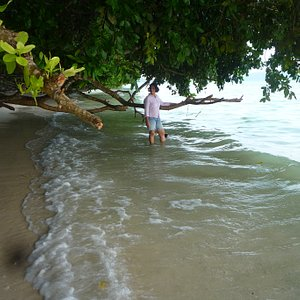 ANOTHER PIC OF WATER RECEDING: VIJAYNAGAR BEACH