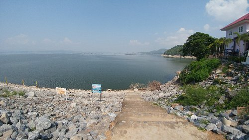 Largest earth dam in Thailand.