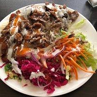 Lamb Iskender, minus the sauce