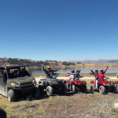 ATV´s &Polaris in the Huaypo Laggon riding top of the hills.