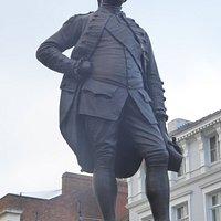 The bronze of Robert Clive