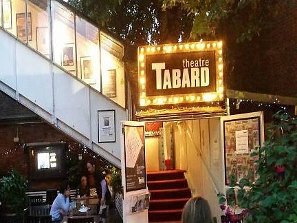 Tabard Theatre is above the pub yet has it's own separate entrance via the beer garden, which I really liked.