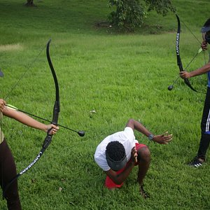 Archery Tag at iBounce St Lucia