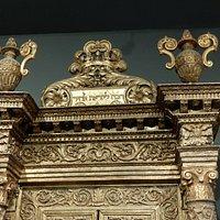 arche sainte (moulures de bois dorees)