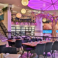 The entire of the venue features two levels fo restaurant and bar space, including a 6m high tree, rockfall and internal waterfall. With a large capacity and multiple private areas, It's the perfect space for lunch, dinner, a friendly drink or your next function!