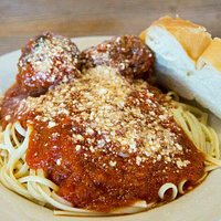 Meatballs and pasta special that night