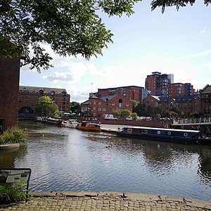 View of the Bridgewater Canal from Barca Bar's terrace.