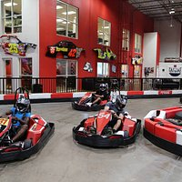Tampa Bay Grand Prix Indoor Go Kart Racing.  Two locations: Tampa, Clearwater Stop and race  Birthday Parties Corporate Events Italian Pro Karts Speed up 50mph Fastest Go Kart in Town