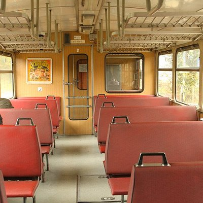 If you take the train through Studenka, you get to ride there on this adorable old train car.