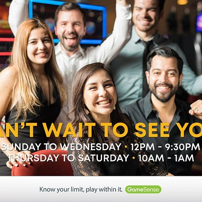 Come join us at the Lake City Casino Vernon. Please see our new hours.