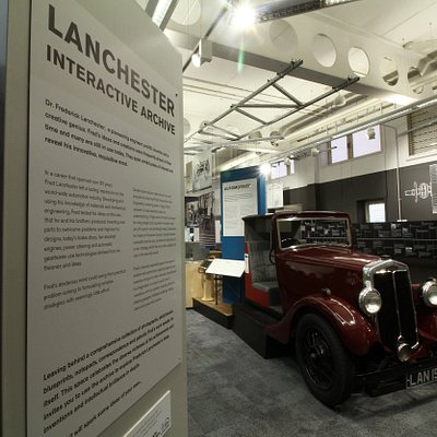 An overview of the Lanchester Interactive Archive exhibition space.