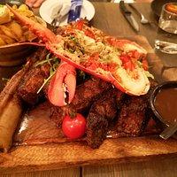 surf&turf of tomahawk steak & lobster