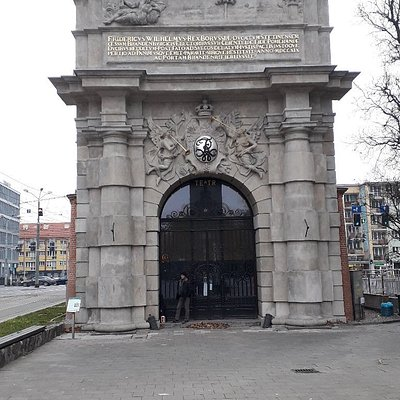 Brama do teatru. Mieści się on w Bramie Portowej.