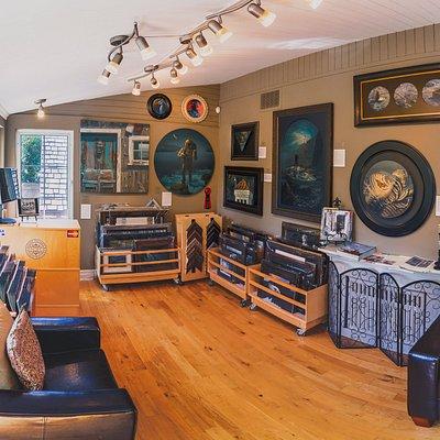 Interior view of Josh Tiessen Studio Gallery