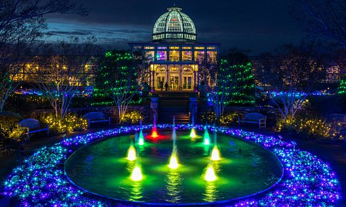 Dominion Energy GardenFest of Lights at Lewis Ginter Botanical Garden. Image by Tom Hennessy.