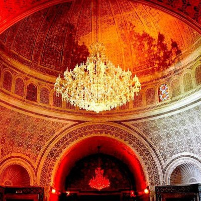 Magnificient view from inside, under the dome of Palais Kobbet Ennhas, an old beylical castle