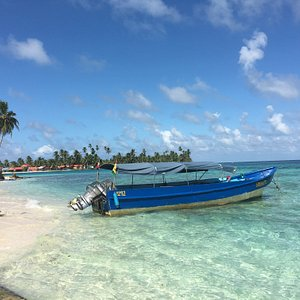 View from San Blas tour. It is a very long way to get to the islands, but it's worth it. This is Isla Diego I believe. the one island with a bar. It's the best one with the best huts. the other islands not so much. Entire trip is worth it. Highly recommended