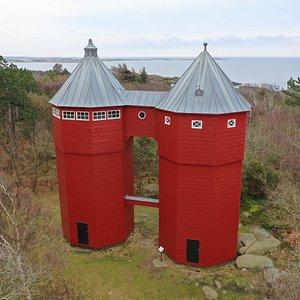 Wasserturm Albert och Frieda im Ortsteil Apelviken