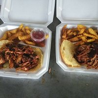 Great BBQ sandwiches and crispy fries. Just one of many great items to be had at Jabo's.