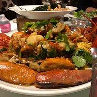 Lobster Ginger & Spring Onion On Bedding Of Crispy Noodles