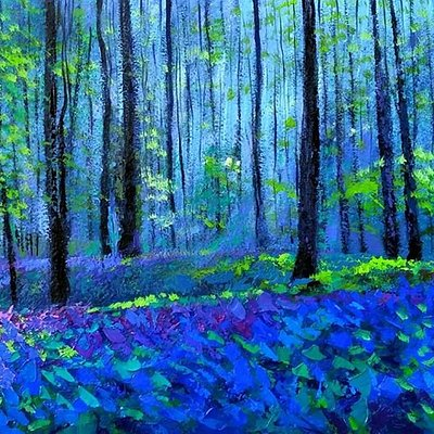 Early morning in the spring forest / fine art by Vu Trong Anh artist