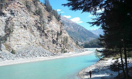 Harshil on the way to Gangotri