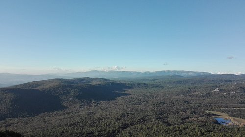 This is the view of Saint Baume mountain, from Mont Caume.