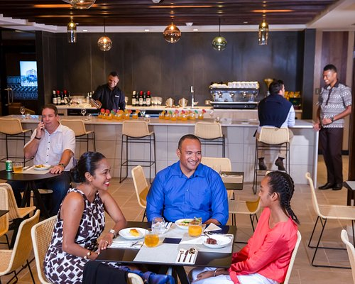 A dedicated dining area caters for singles, couples and families.