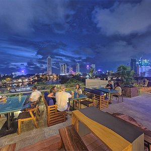 Spectacular Views of Colombo from the Terrace Bar