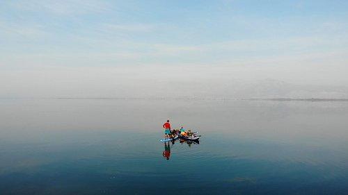 Stand up paddle board & kayak tour on remarcable Skadar lake.