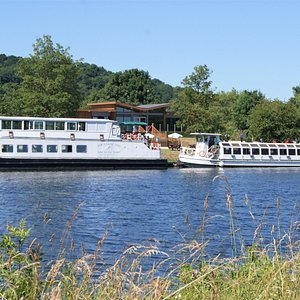 The Nottingham Prince and the Nottingham Princess moored up at the River Lodge