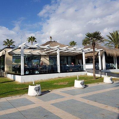 Bars and restaurants a-plenty along the promenade
