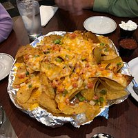 cheesy nachos!  huge portion for 14 bucks!