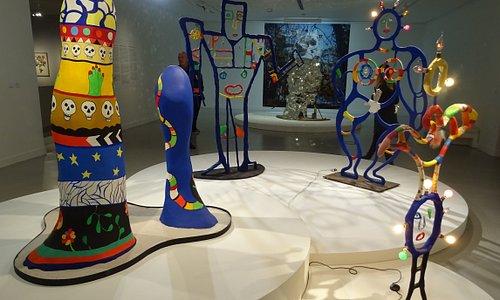 Quelques échantillons de sculptures, beaucoup d'autres très différentes dans l'expo de Niki de Saint Phalle au BAM jusqu'au 13/01/19