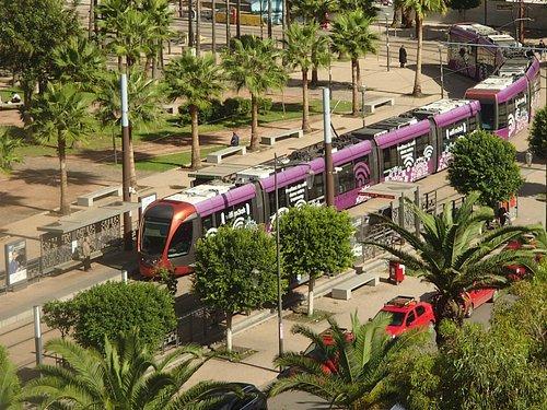Tram at Casa Voyageurs