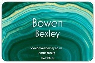 Bowen Bexley business card.